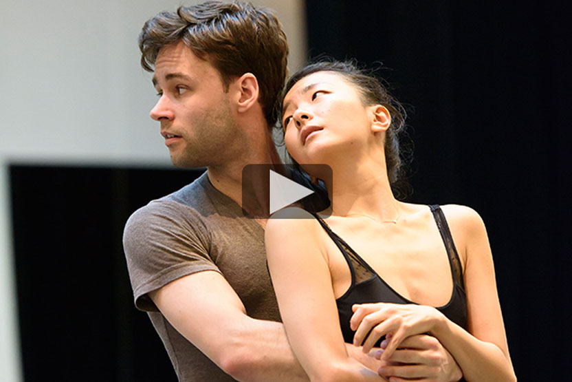 Watch: The Two Pigeons in rehearsal